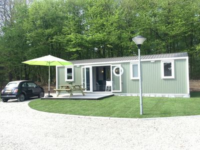 Photo for Tastefully decorated chalets, located in a holiday park with an outdoor pool