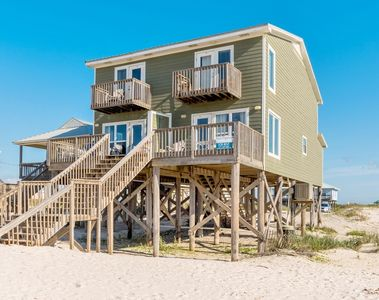 Front view of this Beach Home in Gulf Shores AL