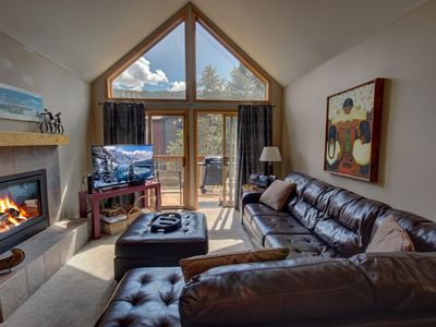 Photo for Ski Slope Views, Great Deck, Fireplace, Laundry & Private Garage!