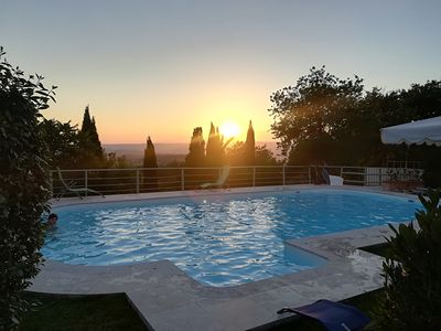 Photo for Country house with swimming pool and view to the sea at 6km from the Terme di Saturnia