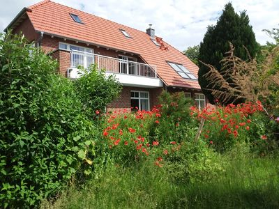 Photo for Quiet apartment in the countryside with large garden and terrace for romantics