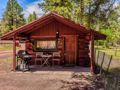 Photo for Charming & Historical 1 Room Log Cabin / Forest Views/ 20 minutes from Flagstaff