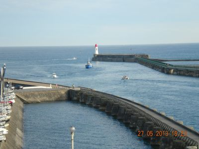 Photo for Appart 4 pers. - Les Sables d'Olonne with panoramic sea view and harbor entrance