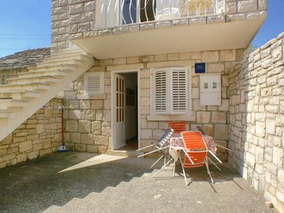 Photo for One bedroom apartment with terrace Lumbarda, Korčula (A-4413-b)