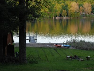 Photo for Clean, Cozy Lakefront Cottage In Northern Michigan on beautiful Six Mile Lake