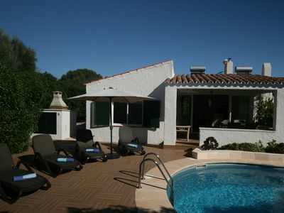 Photo for Villa, close to beach, restarants & shops, big new pool, all recently renovated.