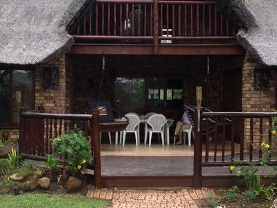 Photo for Lovely chalet on golf course in 4*resort Kruger Park Lodge view of hills/garden