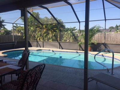 Photo for Beautiful Private Screened Pool/Patio Home, Newly Renovated