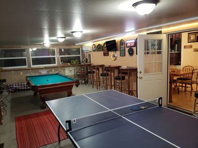 Photo for Gameland 2, Pool table, ping pong, large outdoor grill area.