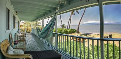 Shaded porch to whale watch.