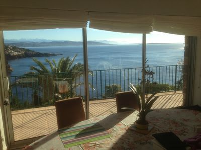 Photo for Waterfront, spectacular view, 4p residence. terrace, quiet, private road, parking