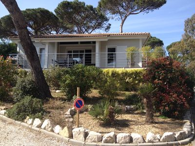 Photo for PROMO Californian house in the Golf of St Tropez with sea view