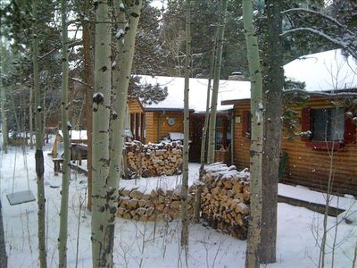 Photo for Charming Log Cabin for Peaceful Mountain Getaway!