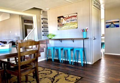 Dining Room bar with additional seating for 4. Loft ladder leads to kids area.