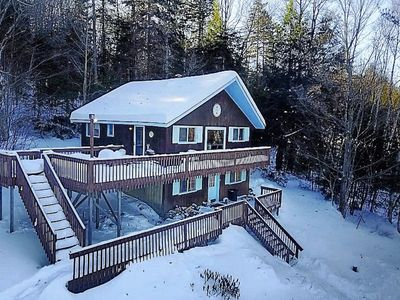 Photo for Rustic Vermont ski chalet