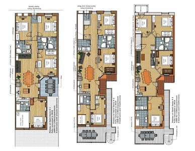 Our triplex apartments. If you prefer one over another let us know. We'll send you the links for the others.