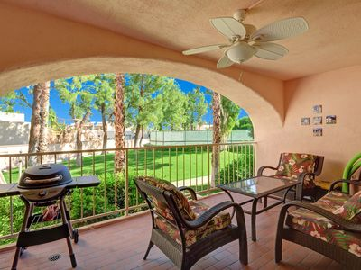 """Photo for Beautiful """"Tommy Bahama"""" Deauville Condo in Downtown Palm Springs+Mountain Views"""