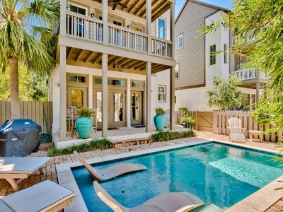 Photo for Villa St. Barth's! Private Pool! Covered Balconies! Short Walk to Rosemary!