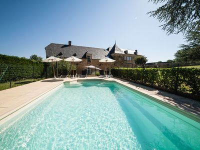 Photo for 5* Villa, 3 Bedrooms with Private Pool. Between Sarlat & Lascaux Caves