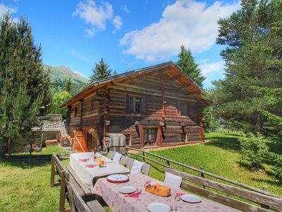 Photo for Apartment in a typical baita in the Dolomites with sauna and Turkish bath