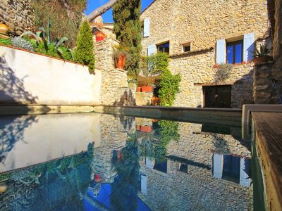 Photo for Aramon village center / House 180m2 / pool / 3 bedrooms