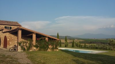 Photo for Beautiful villa in the Tuscan countryside near Montalcino