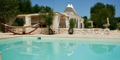 """Photo for Traditional Holiday Home """"Trulli del Gattopardo"""" with Wi-Fi, Garden, Patio & Pool; Parking Available"""