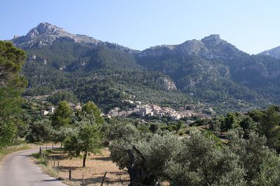 Estellencs village at the foot of Mount Galatzó