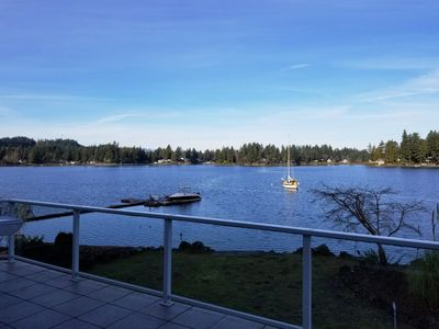 Photo for Oyster Bay Home, Located on Puget Sound Waterfront! (3 day minimum rental).