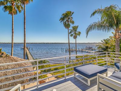 Photo for NEW! Waterfront retreat w/private fishing pier, boat lift and direct Gulf access