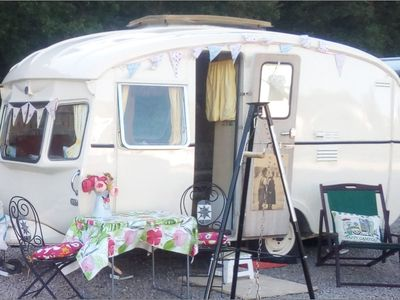 Photo for Vintage Caravan for Campsite Holidays - Mid Wales