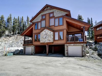 Photo for SLEEPS 53 Forest Luxury Combined 3 Chalet's Ski In Ski out / Hot Tub