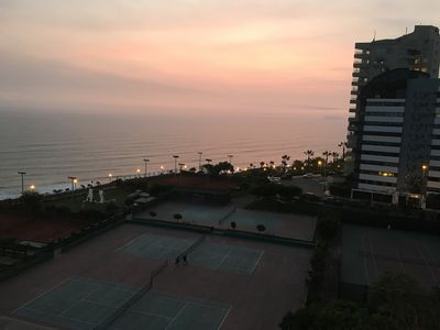 Photo for Seafront fully furnished apartment in Miraflores / Dpto Ocean Front f / equipped
