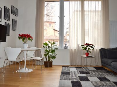 Photo for Bright and quiet apartment Bologna historic center