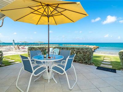 Photo for Sunset Cove Oceanfront Unit Right on Seven Mile Beach! (Sleeps up to 7)