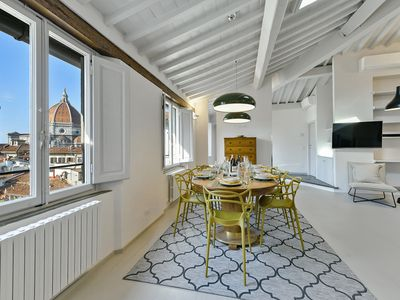 Photo for WONDERFUL PENTHOUSE WITH STUNNING VIEW OF BRUNELLESCHI CUPOLA OF DUOMO