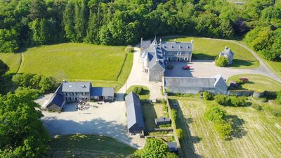 Photo for Semi-detached cottages from 6 to 14 pers. in private estate, mansion, forest, MORLAIX