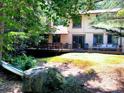 Photo for Beautiful stream front family home in Lake Naomi for all seasons