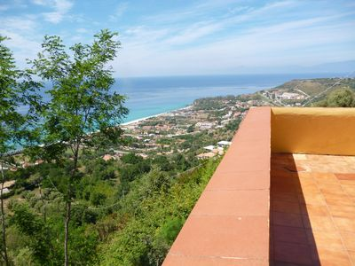 Photo for magnificent penthouse apartment terrace with sea view Zambrone / Tropea