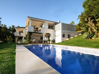 Photo for Stunning villa with communal swimming pool