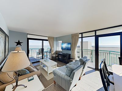 Photo for New Listing! All-Suite Oceanview Escape w/ Balcony, Pool & Lazy River