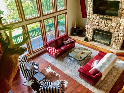 Photo for Spectacular chalet with view of ski slopes!