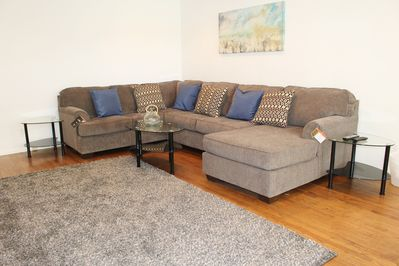 Living room, XL sectional with chaise lounge