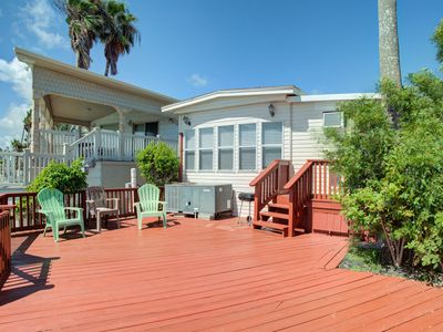 Photo for NEW LISTING! Bayfront home w/deck & shared pool, hot tub, gym, tennis, golf