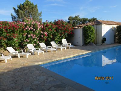 Photo for AIR CONDITIONED VILLA IN A SMALL RESIDENCE VITH SWIMMING POOL NEAR SEA