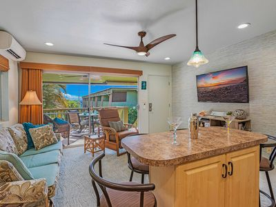 Photo for Ocean, Tropical Garden and Pool View at a Beach Front Property-Kihei Kai Unit 24