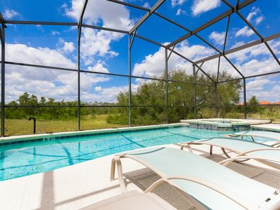 Photo for Disney area 5* Villa with private pool, spa, Wi-Fi & Games Room! FREE POOL HEAT!