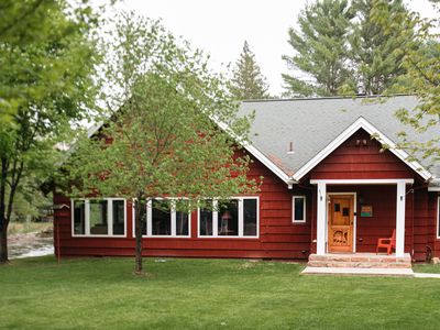 Photo for Private, Up North, large groups family-friendly retreat lodge on AuSable River