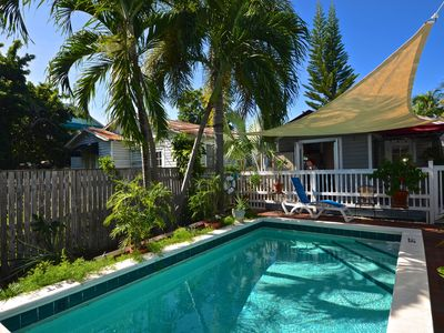 Photo for Breezy Florida home with shared swimming pool, dog-friendly - walk to beach!