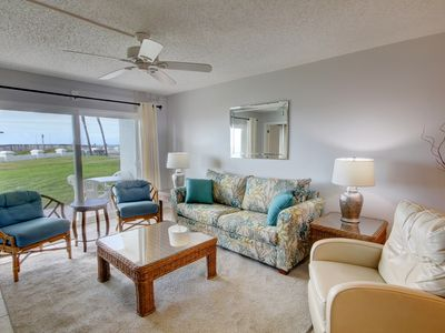 Photo for Lovely Condo w/Patio, Gym, Pool, Tennis, Private Beach Access, & More!
